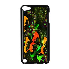 Butterfly Abstract Flowers Apple Ipod Touch 5 Case (black)