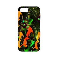 Butterfly Abstract Flowers Apple iPhone 5 Classic Hardshell Case (PC+Silicone)