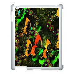 Butterfly Abstract Flowers Apple Ipad 3/4 Case (white)