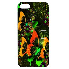 Butterfly Abstract Flowers Apple Iphone 5 Hardshell Case With Stand