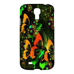 Butterfly Abstract Flowers Samsung Galaxy S4 I9500/i9505 Hardshell Case