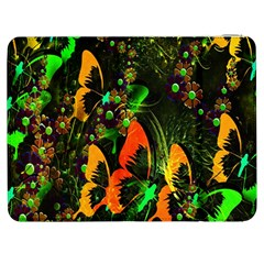 Butterfly Abstract Flowers Samsung Galaxy Tab 7  P1000 Flip Case