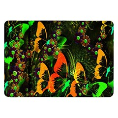 Butterfly Abstract Flowers Samsung Galaxy Tab 8.9  P7300 Flip Case