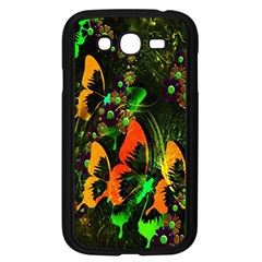 Butterfly Abstract Flowers Samsung Galaxy Grand Duos I9082 Case (black)