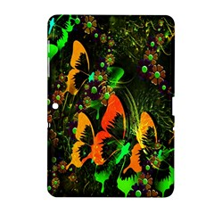 Butterfly Abstract Flowers Samsung Galaxy Tab 2 (10.1 ) P5100 Hardshell Case