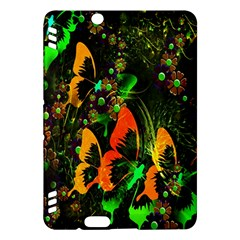 Butterfly Abstract Flowers Kindle Fire Hdx Hardshell Case