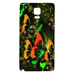 Butterfly Abstract Flowers Galaxy Note 4 Back Case