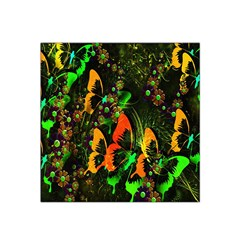 Butterfly Abstract Flowers Satin Bandana Scarf