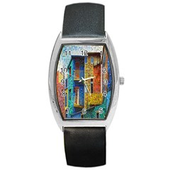 Buenos Aires Travel Barrel Style Metal Watch