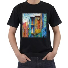 Buenos Aires Travel Men s T-Shirt (Black) (Two Sided)