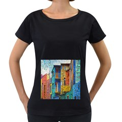 Buenos Aires Travel Women s Loose-Fit T-Shirt (Black)