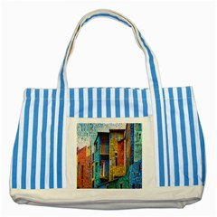 Buenos Aires Travel Striped Blue Tote Bag