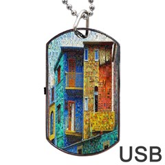 Buenos Aires Travel Dog Tag USB Flash (One Side)