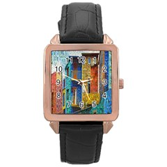 Buenos Aires Travel Rose Gold Leather Watch