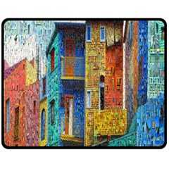 Buenos Aires Travel Double Sided Fleece Blanket (Medium)