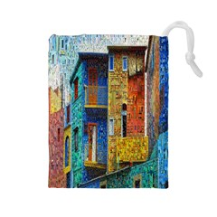 Buenos Aires Travel Drawstring Pouches (large)