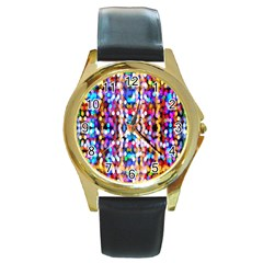 Bokeh Abstract Background Blur Round Gold Metal Watch