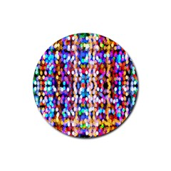 Bokeh Abstract Background Blur Rubber Round Coaster (4 pack)