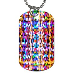 Bokeh Abstract Background Blur Dog Tag (two Sides)