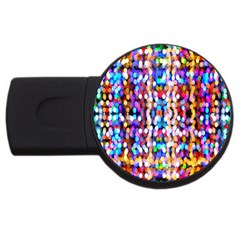 Bokeh Abstract Background Blur USB Flash Drive Round (2 GB)