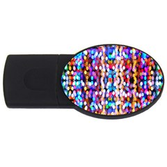 Bokeh Abstract Background Blur USB Flash Drive Oval (2 GB)