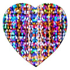 Bokeh Abstract Background Blur Jigsaw Puzzle (Heart)