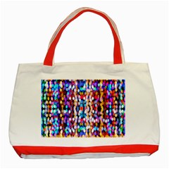Bokeh Abstract Background Blur Classic Tote Bag (Red)
