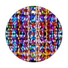 Bokeh Abstract Background Blur Round Ornament (Two Sides)