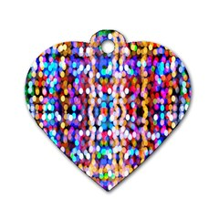 Bokeh Abstract Background Blur Dog Tag Heart (Two Sides)