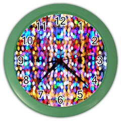 Bokeh Abstract Background Blur Color Wall Clocks