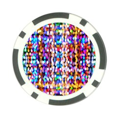 Bokeh Abstract Background Blur Poker Chip Card Guard (10 pack)