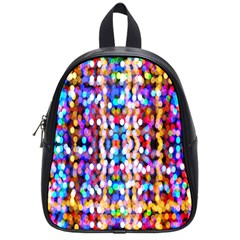 Bokeh Abstract Background Blur School Bags (Small)
