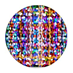 Bokeh Abstract Background Blur Round Filigree Ornament (Two Sides)