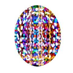 Bokeh Abstract Background Blur Oval Filigree Ornament (Two Sides)