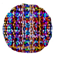 Bokeh Abstract Background Blur Large 18  Premium Round Cushions
