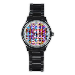 Bokeh Abstract Background Blur Stainless Steel Round Watch