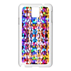 Bokeh Abstract Background Blur Samsung Galaxy Note 3 N9005 Case (white)