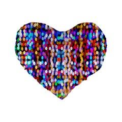 Bokeh Abstract Background Blur Standard 16  Premium Flano Heart Shape Cushions