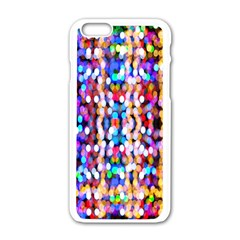 Bokeh Abstract Background Blur Apple iPhone 6/6S White Enamel Case