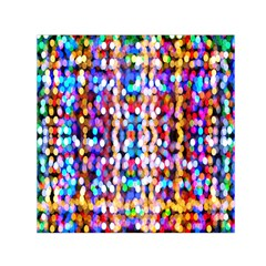 Bokeh Abstract Background Blur Small Satin Scarf (Square)