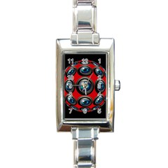 Camera Monitoring Security Rectangle Italian Charm Watch