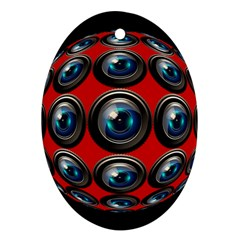 Camera Monitoring Security Ornament (Oval)