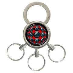 Camera Monitoring Security 3-Ring Key Chains