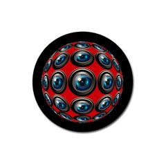 Camera Monitoring Security Magnet 3  (Round)