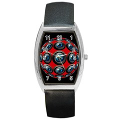 Camera Monitoring Security Barrel Style Metal Watch