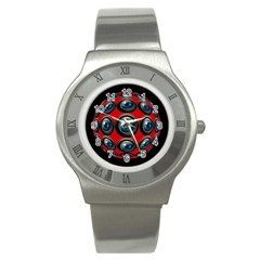 Camera Monitoring Security Stainless Steel Watch