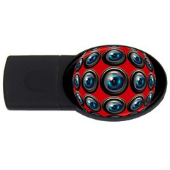 Camera Monitoring Security USB Flash Drive Oval (4 GB)