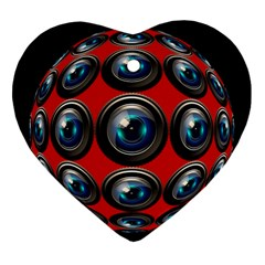 Camera Monitoring Security Heart Ornament (Two Sides)