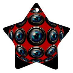 Camera Monitoring Security Star Ornament (two Sides)