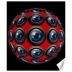 Camera Monitoring Security Canvas 8  x 10